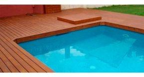 La madera en las piscinas