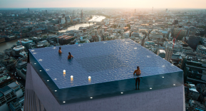 La piscina Infinity London, espectacular proyecto en lo alto de un rascacielos