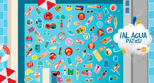 ¡Al Agua Patos! Campaña Seguridad Infantil en la Piscina por Abrisud